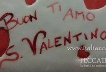 Red velvet cake San Valentino con ganache al cioccolato al latte