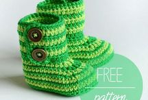 Knitted and Crocheted Baby Hats and Booties