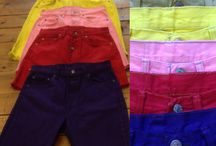 Levi's coloured cutoff shorts / Vintage Levis dyed cut-down denim shorts