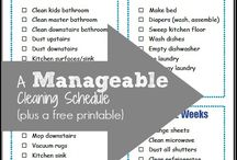 Cleaning tips and organizing cleaning / Cleaning household