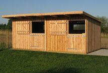 Weidehütten / Außenboxen / Weidehütten Außenboxen Larch Shack Horse