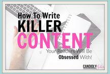 Writing Tips + Tricks / Writing, Grammar, Structure, Blogging, Captions, Proper, English, Reading, Communicating, Professional, Creative, Entrepreneur