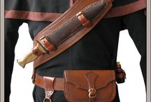 Leather belts and bags