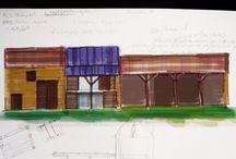 Het Keramiek-atelier / Verzamelde ideeën voor de verbouwing van het Keramiek-atelier op La Grosse Talle