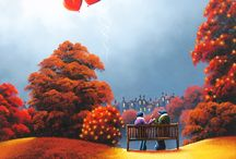 David Renshaw / Gallery Rouge's Collection of original paintings by David Renshaw - Landscapes and Northern Romance works.   We work closely with David, hosting his only exhibition last year 'The Sky Is Not The Limit'. Please ask about requests/commission options and see website for price and availability!
