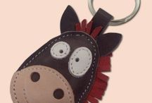 keychain leather animals