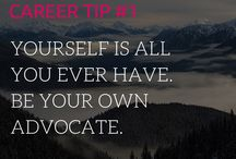 Career Advice / My top career tips to lead you in the direction of an kick ass career!  Find here: Career tips and advice, job seekers, work-life balance, career change tips, career tips for introverts, career development, leadership, interview tips, career happiness, career goals, career counseling, find confidence, leadership skills