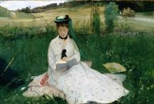Berthe Morisot / Artiste-peintre française liée au mouvement impressionniste (1841-1895). Épouse Eugène Manet, frère d'Edouard. / by Vicou S.