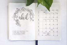 Bullet Journal Monthly Logs