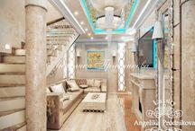 Дизайн-проект квартиры в стиле Ар-Деко в ЖК Город Набережных / Интересный интерьер квартиры в ЖК «Город Набережных» выполнен Анжеликой Прудниковой. Направление ар-деко совместило в дизайне квартиры функциональность, статность и уют. Такая квартира предназначена для комфортной жизни. Ведь в ней есть всё необходимое: гардероб, ванная, кабинет, спальня и т.д.