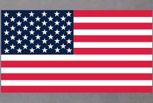 American flag stickers / American flag -- United States of America flag stickers  --  USA