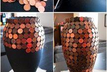 florero  monedas