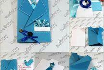 manualidades ~ cajitas, sobres y cintas