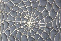 Spider web quilting