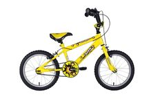 Boys BMX Bike Bright Yellow 16 Inch Padded Saddle Hi Rise Running Sports Boy Kid