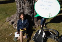 "Caught Green Handed / Caught Green Handed is a program where we wander the NAU campus ""catching"" people in the act of being sustainable.  We recognize them with a picture of  what they are doing.  Check back regularly to see what we find! / by NAU RES LIFE"