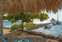 Places to Go - The beach at Xanadu Island Resort Belize / Amazing beach just steps from any suite and the glittering #CaribbeanSea stretching all the way the #Belize Barrier Reef and beyond! #SanPedro #AmbergrisCaye
