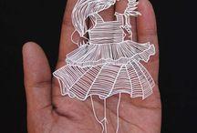 Sculpture sur papiers