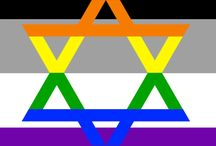 Ace flags with symbols for various romantic orientations