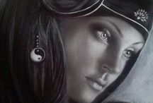 Portrait by Paola Petrucci / Portrait painting . ....Portrait drawing by Paola Petrucci