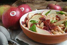 insalata con cannellini ,mela e prosciutto