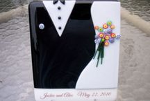 fused glass - wedding