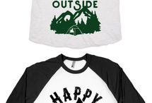 Camping-Themed Shirts / If you're a camping-lover, check out these great additions for your wardrobe!