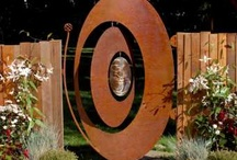 corten garden art