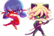 Lady bug and Cat noir