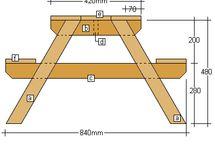 Picnic table - mebelki ogrodowe
