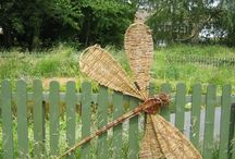 Wicker sculpture willow sculpture / Sculptures made from natural materials / by Kirsten Lund