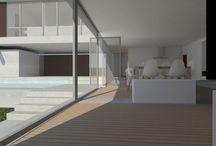 KALEIDOSCOPE_vivienda unifamiliar aislada / Imagen 3D ideación vivienda unifamiliar en dos alturas. KALEIDOSCOPE Diseño de espacios.