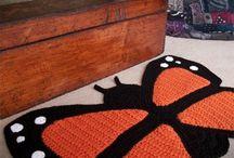 коврики крючком