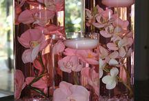 stroiki flakon kwiaty swieczki