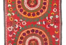 Central Asia Textile Art / Suzani,Kaitag, Ikat,Kantha,Lakai,