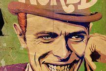 Bowie / Un ilustrador mezcla a David Bowie con distintos personajes de la cultura pop