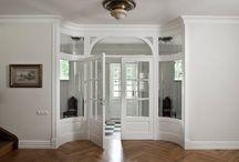 Klasyczne drzwi wewnętrzne dwuskrzydłowe białe