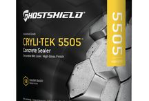 Cryli-Tek 5505 - Ghostshield / An industrial-grade, solvent-based, non-yellowing, acrylic sealer that enhances, protects, and provides a clear, high-gloss finish