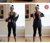 Mommy and Baby work out.