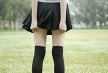 Flicking school uniform....
