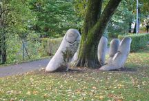 Ympäristötaide - Environmental art / Kivoja ympäristötaideteoksia - Nice works of environmental art