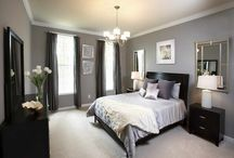 Grey bedroom with floral ideas
