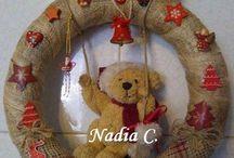 Ghirlande, stelle e cestini ... / Ghirlande di Natale .......
