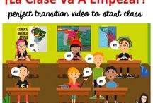 Spanish Class Hacks for Improving Classroom Management and Behavior / Use these videos to prevent your classroom transitions defeating your classroom management plans.