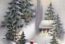 Joulukortteja vintage