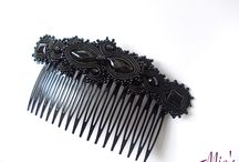 Hair combs. Soutache. / Hair combs. Soutache.
