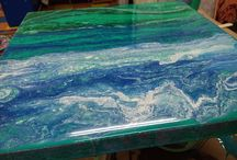 Resin Epoxy Art / Images of my resin epoxy artwork for sale and examples of what you can create in one of my classes.