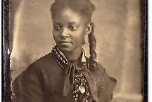 V BLACK HISTORY / The good and the bad.  It is refreshing to see black women in early America that weren't raised in poverty and slavery.  I have collected a combination of both.