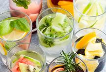 Infused water recipes / A great way to add flavor to the water. #water, #waterwithflavor