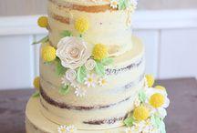 Rustical/yellow wedding cake